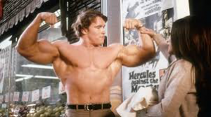 Arnold showcasing how a healthy breakfast can lead to muscles