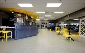 Smoothie Bar in gym layout