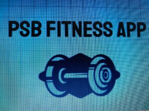 This picture is showing the symbol of the PSB Fitness App for easy access to App
